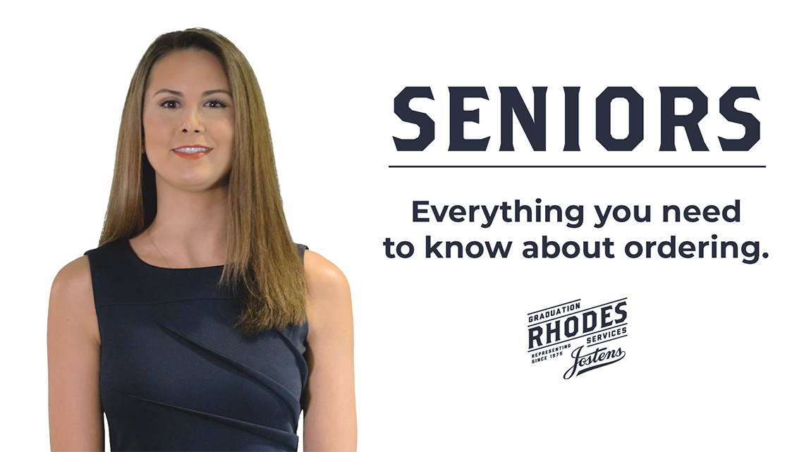 Order senior items from Rhodes Graduation Services.