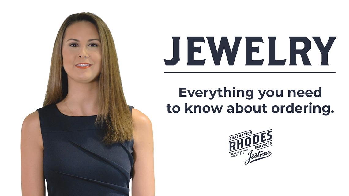 Rhodes Graduation Services Jewelry explainer video thumbnail.